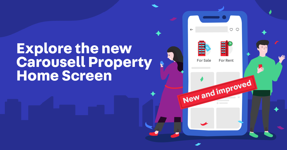 New Carousell Property Home Screen - For A Better House-Hunting Experience